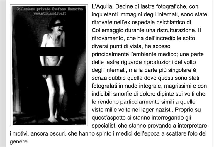 (screenshot dell'articolo di Abruzzo Live)