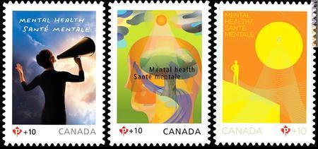 I tre francobolli che fra il 2008 e il 2010 hanno caratterizzato la campagna di sensibilizzazione e raccolta fondi
