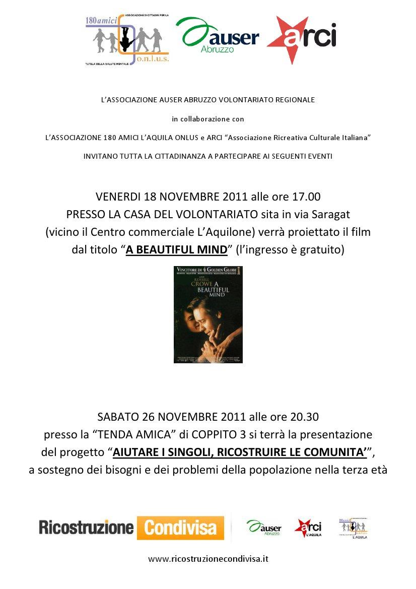 L aquila 18 e 26 novembre for Volantino acqua e sapone l aquila