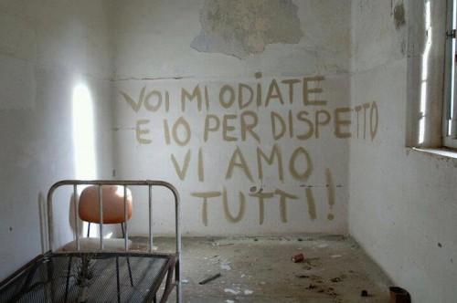 Un internato dell'ex ospedale psichiatrico di Sassari