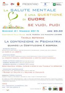 conferenza Contenzione in Psichiatria