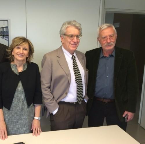 (Da sinistra la deputata Vanna Iori, il senatore Luigi Manconi e lo psichiatra Peppe Dell'Acqua)